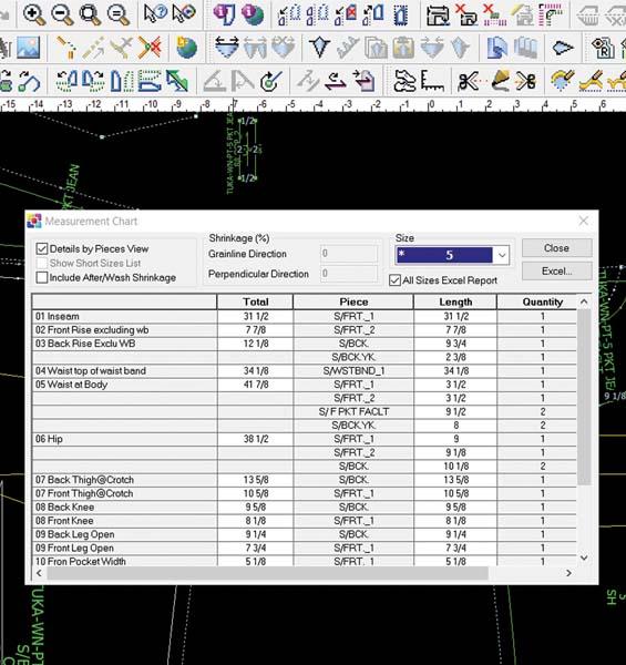 tuka cad digital pattern making measurement software